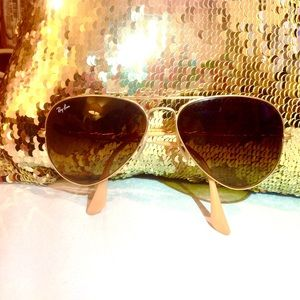 Gold Aviator Ray Ban Sunglasses